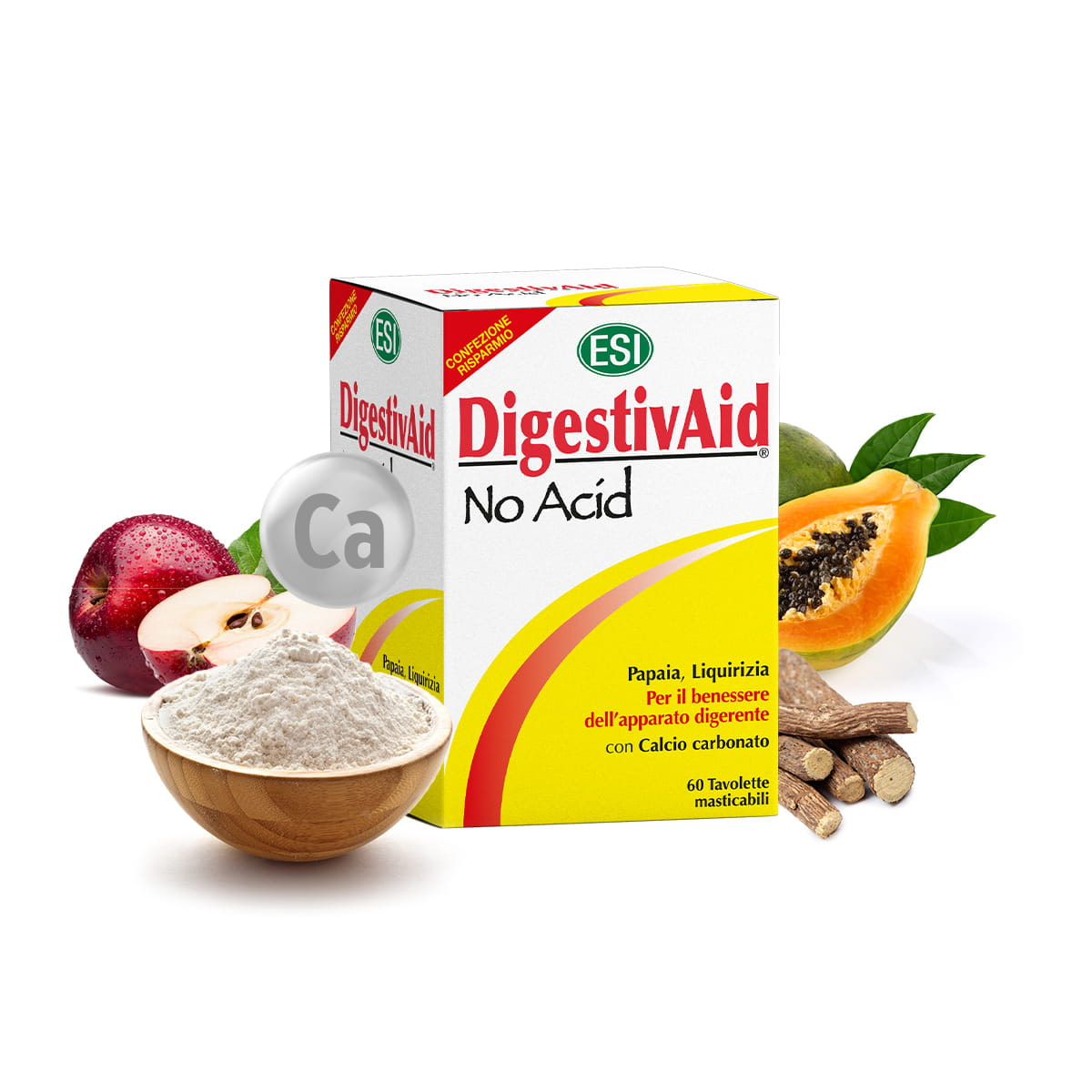 DigestivAid No Acid – 60 tabletek do żucia
