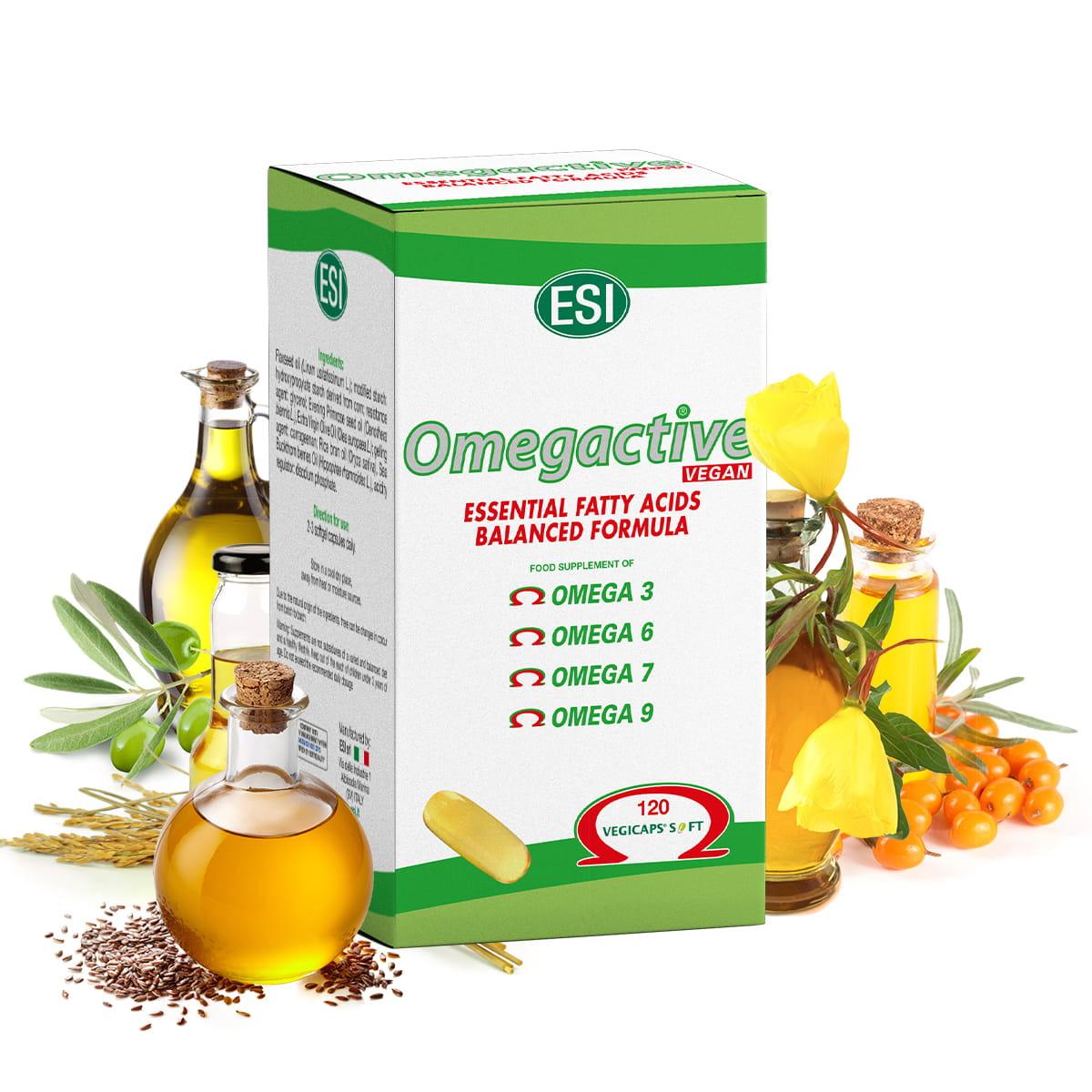 Omegactive Vegan – 100% roślinne kwasy omega 120 kapsułek